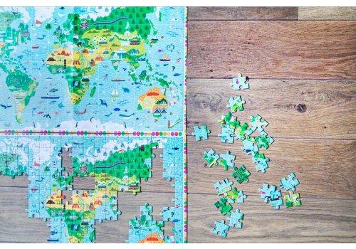 Djeco Plus d'une carte du monde - 200 pièces