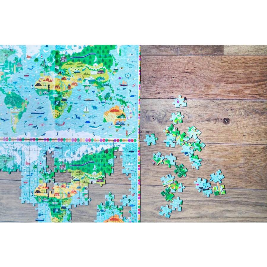 Meer dan een wereldkaart - puzzel van 200 stukjes-1