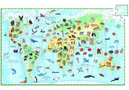 Djeco The animal world - 100 pieces