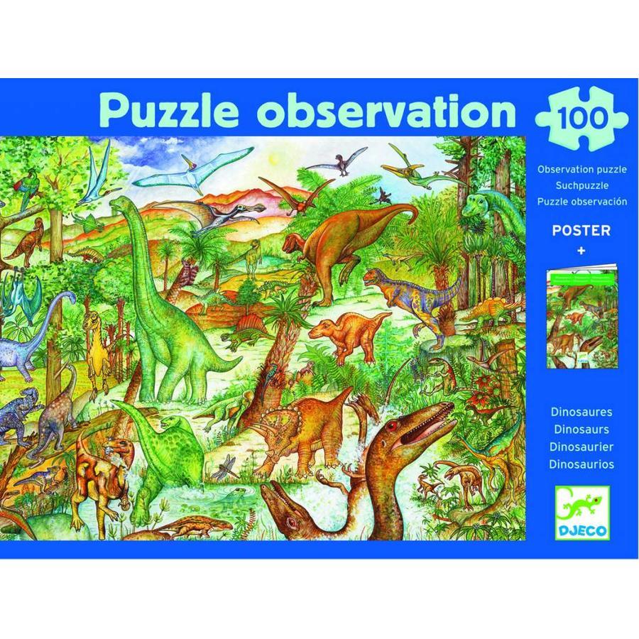 Dinosaurussen - puzzel van 100 stukjes-2