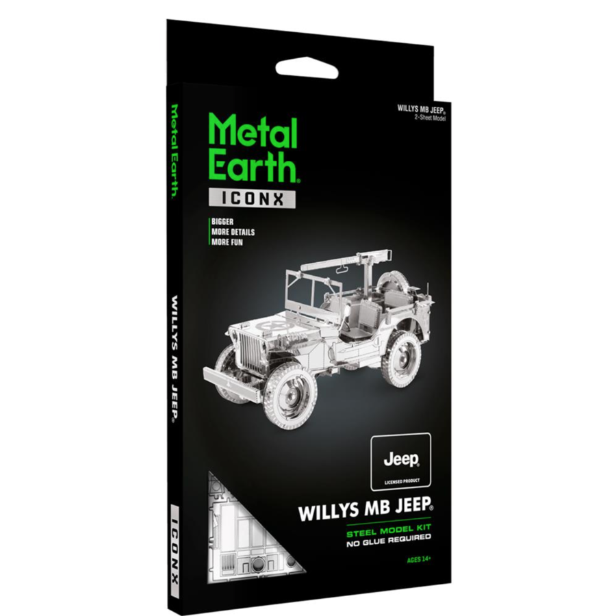 Willy's MB Jeep - Iconx 3D puzzel-3