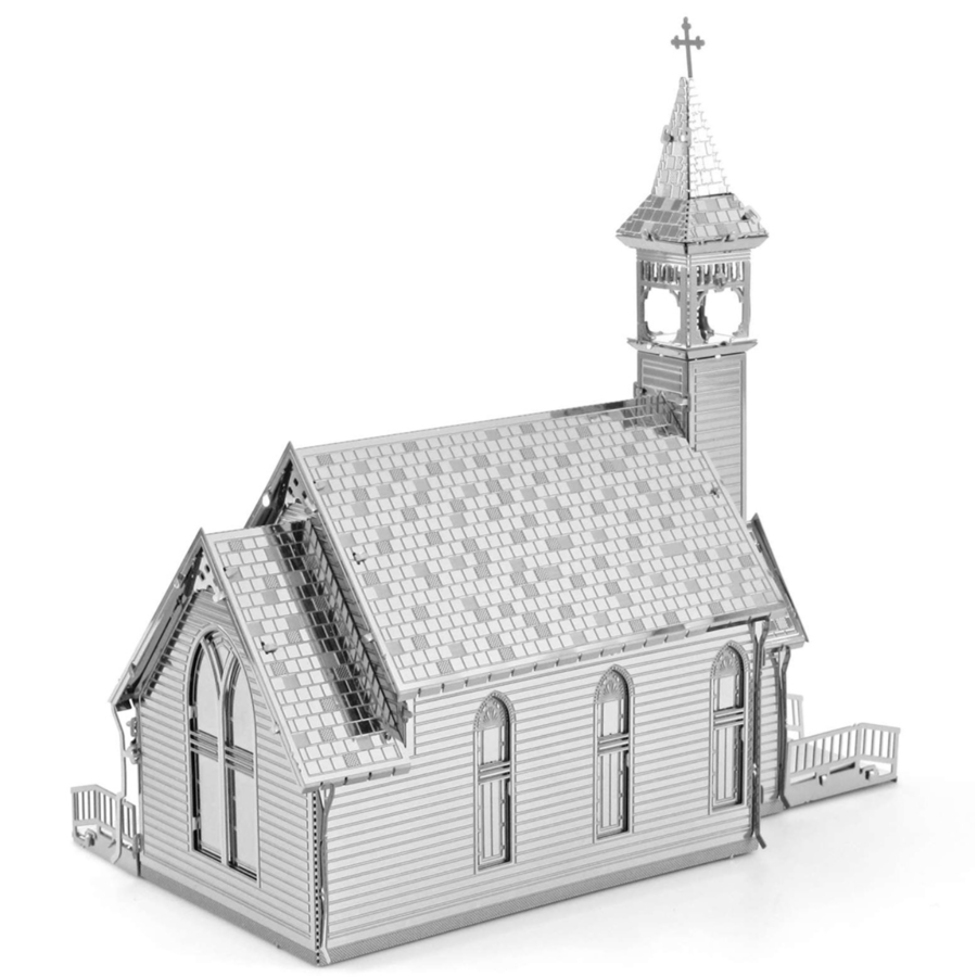 Old Country Church  - puzzle 3D-2