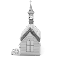 thumb-Old Country Church  - puzzle 3D-3