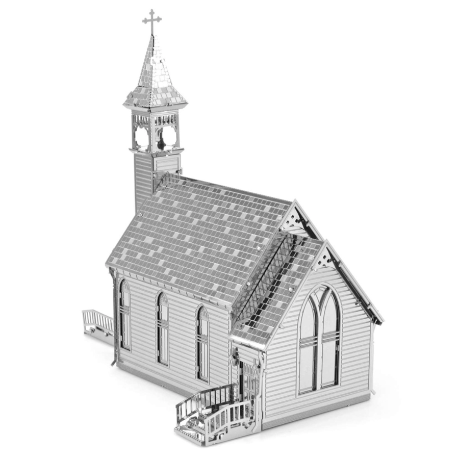 Old Country Church  - 3D puzzel-4