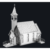 thumb-Old Country Church  - puzzle 3D-1