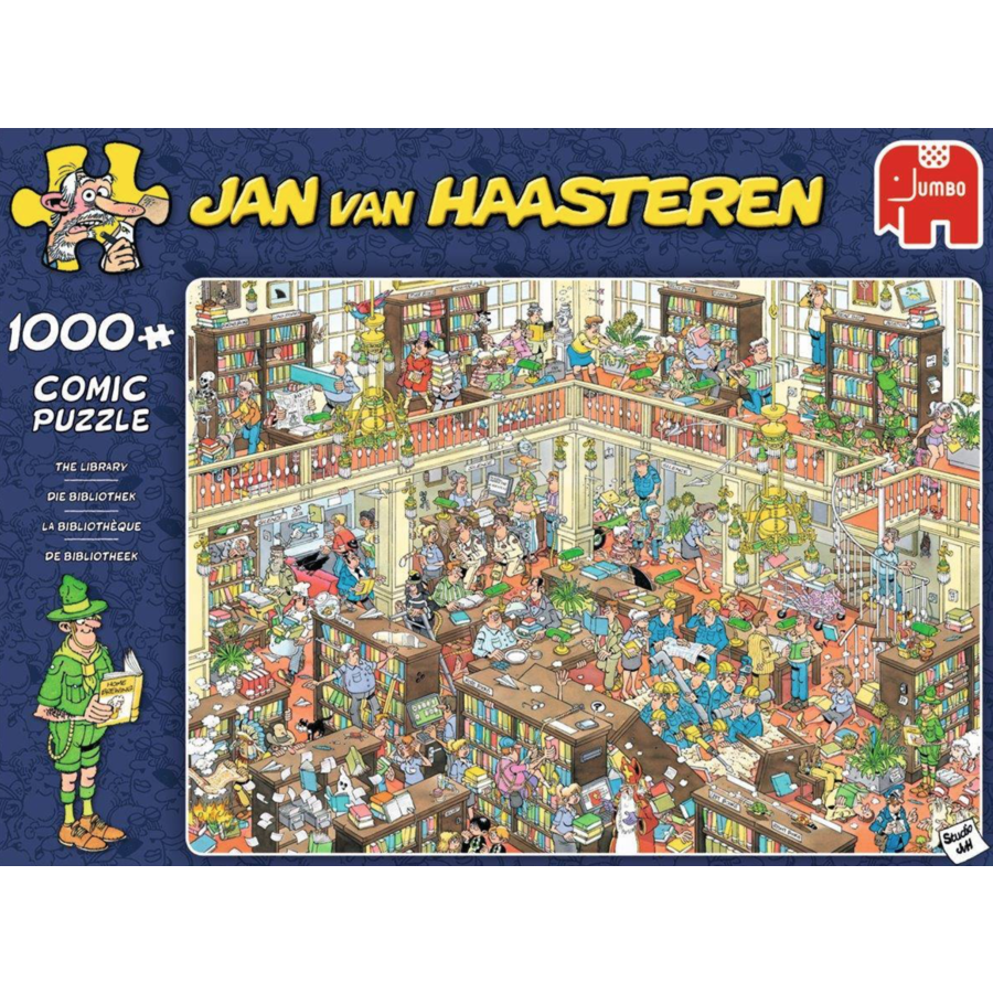 De bibliotheek - JvH - 1000 stukjes-1