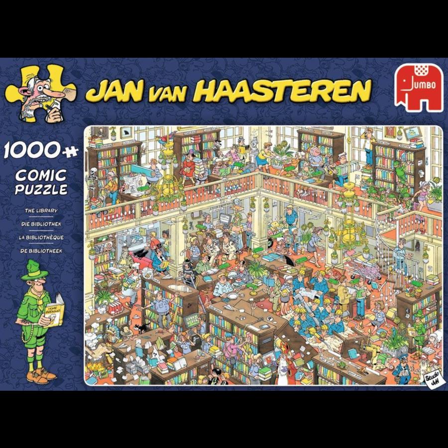 La bibliothèque  - JvH - 1000 pièces-1