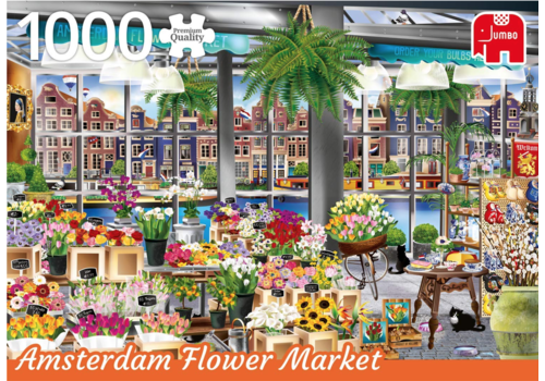 Amsterdam, the Flower Market- 1000 pieces