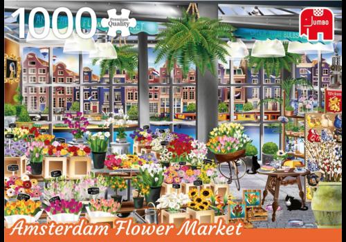 De bloemenmarkt in Amsterdam - 1000 stukjes