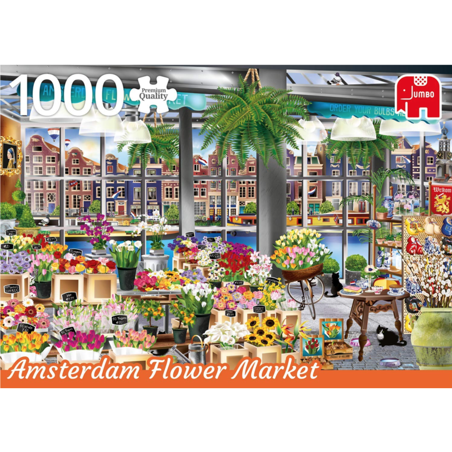 De bloemenmarkt in Amsterdam - Wanderlust - 1000 stukjes-1