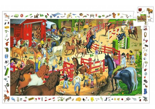 Hustle and bustle at the equestrian centre - 200 pieces