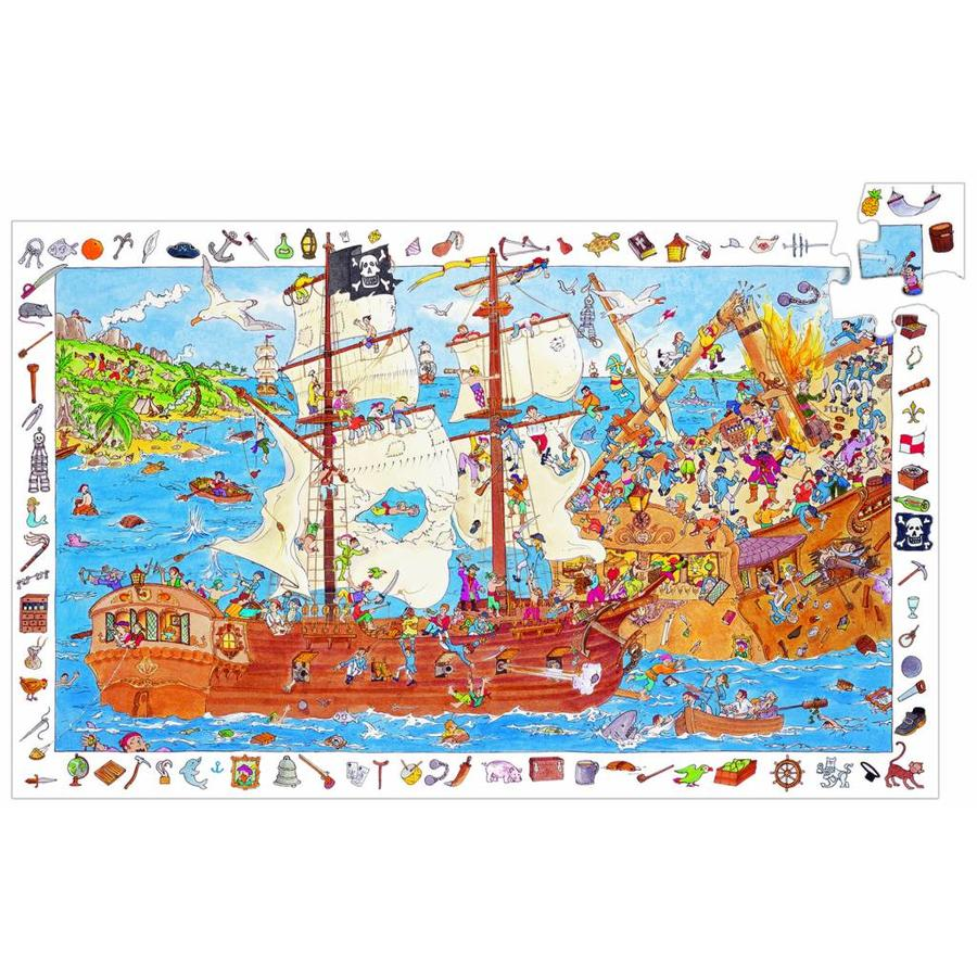 De piraten in aanval - puzzel van 100 stukjes-1