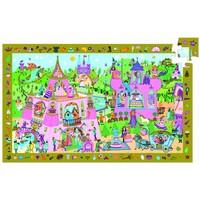 Het roze prinsessenkasteel - puzzel van 54 stukjes