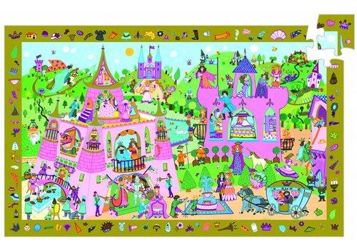 Djeco The pink princess castle - 54 pieces
