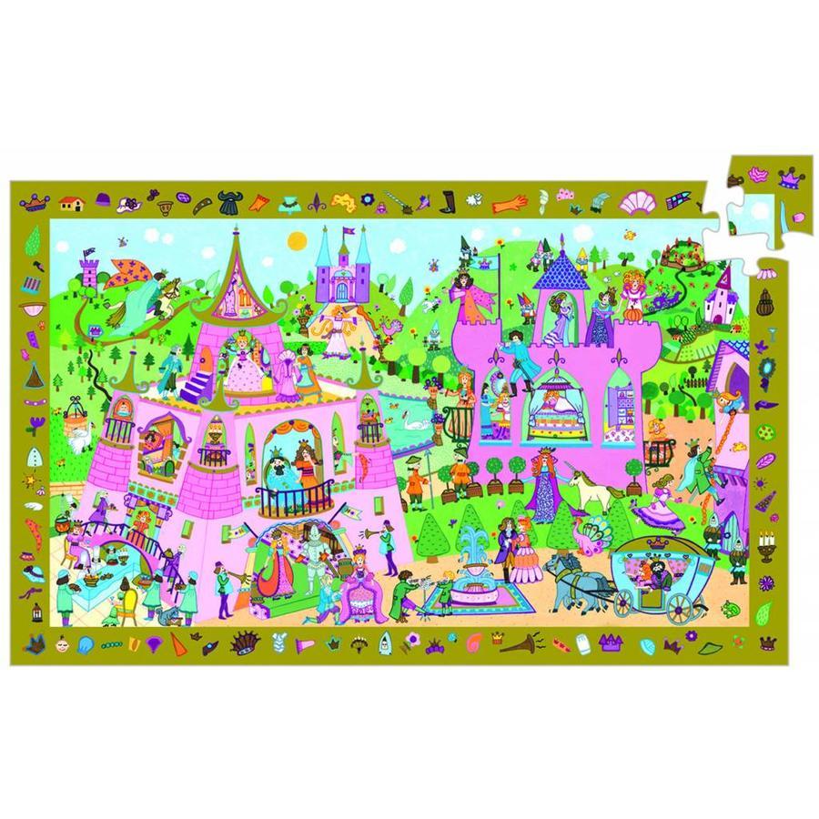 Het roze prinsessenkasteel - puzzel van 54 stukjes-1