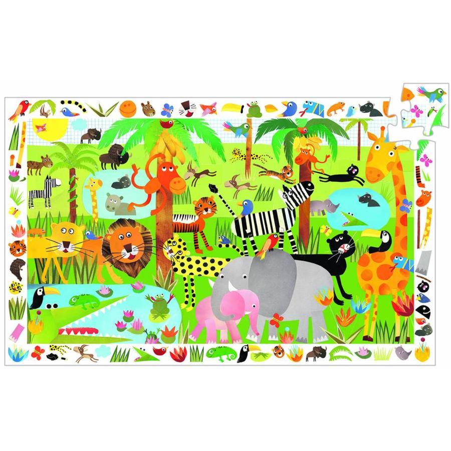 Drukte in de jungle - puzzel van 35 stukjes-1