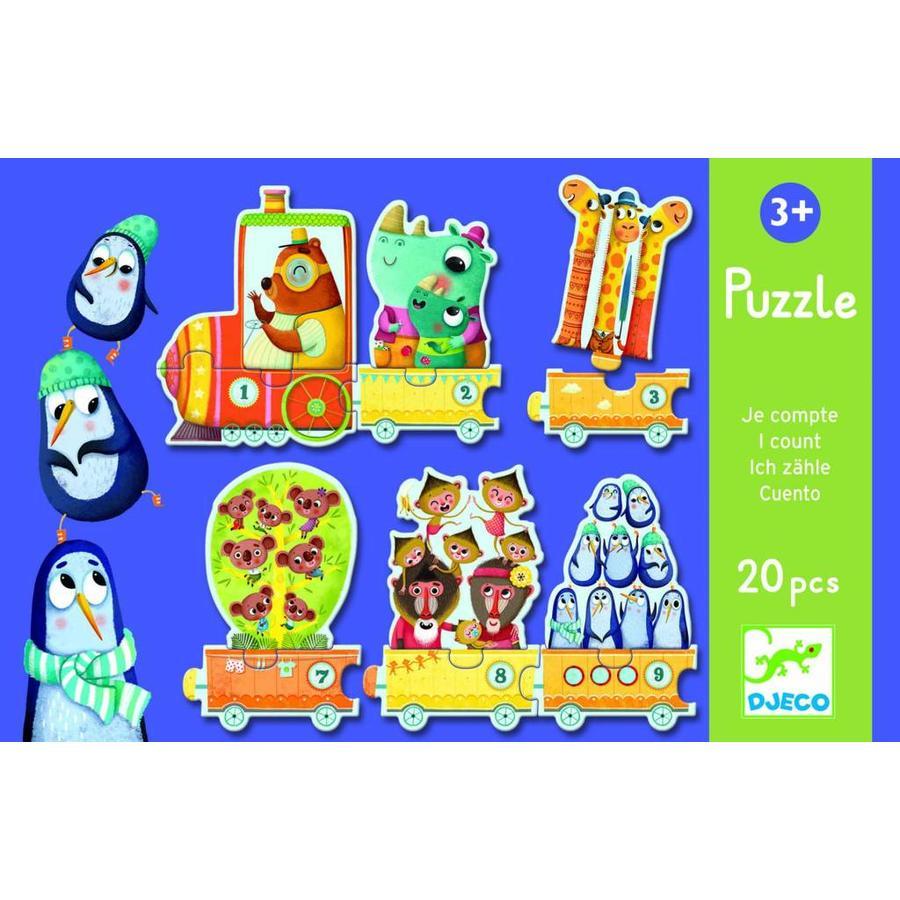 Puzzel trein - puzzel van 20 stukjes-2