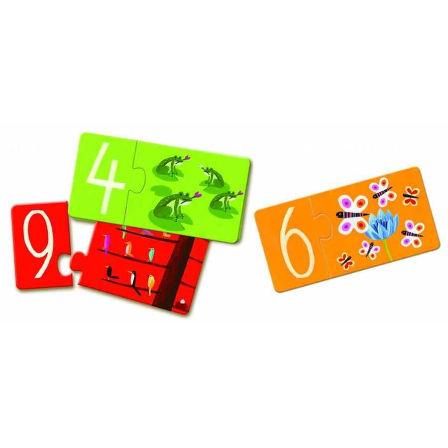 Puzzle duo - numbers - 10 puzzles of 2 pieces-2