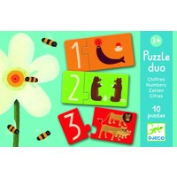 thumb-Puzzle duo - numbers - 10 puzzles of 2 pieces-1