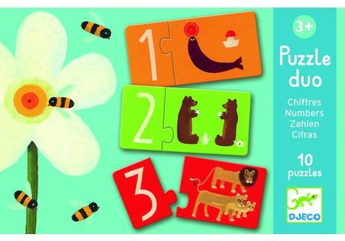 Djeco Puzzel duo - getallen - 10 x 2 stukjes