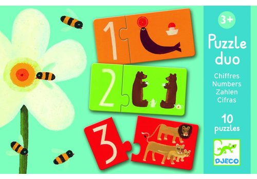 Djeco Puzzle duo - numbers - 10 x 2 pieces