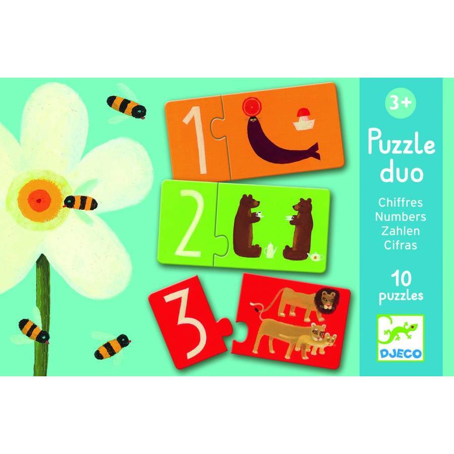 Puzzel duo - getallen - 10 puzzels van 2 stukjes-1