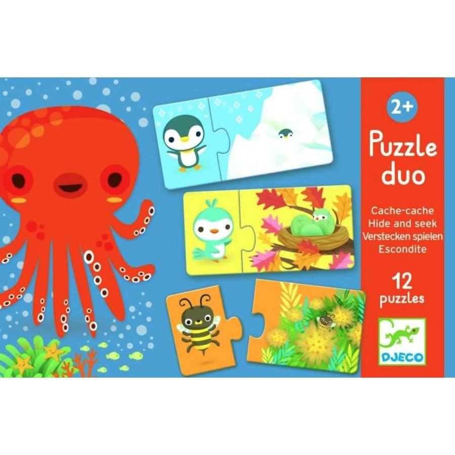 Puzzel duo - verstoppertje - 12 x 2 stukjes-1