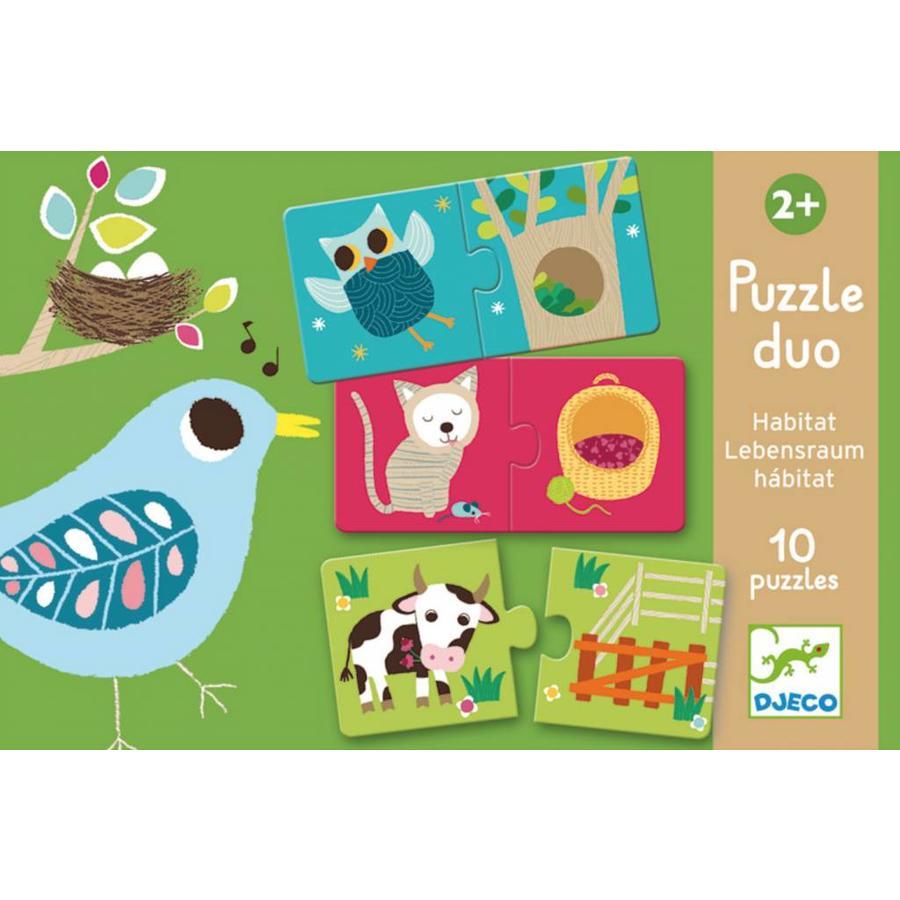 Puzzel duo - Ons huis - 10 x 2 stukjes-1