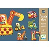 Djeco Puzzle duo - Moving cars - 6 x 2 pieces