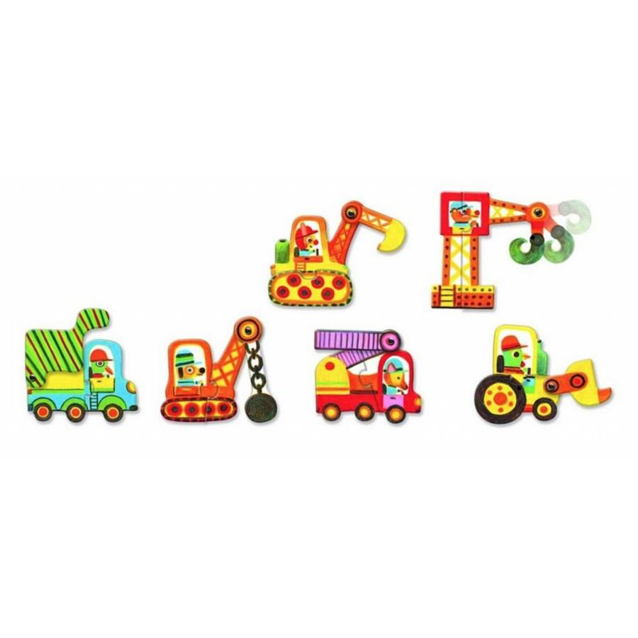 Puzzle duo - Moving cars - 6 x 2 pieces-2