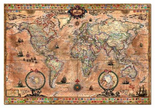 Carte antique du monde - 1000 pièces