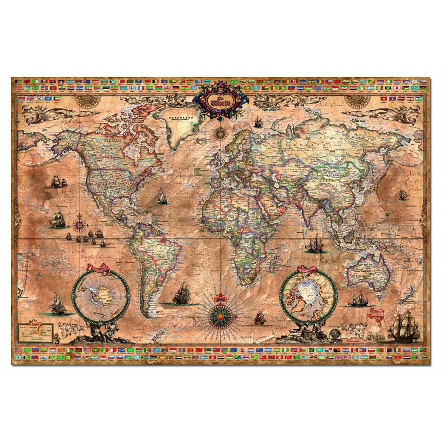 Antieke wereldkaart - 1000 stukjes-1