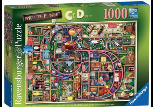 """Alphabet Impressionnant """"C&D"""" - 1000 pièces"""