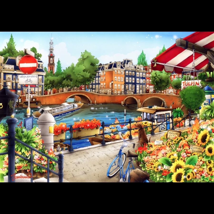 Amsterdam - puzzle de 1500 pièces-1