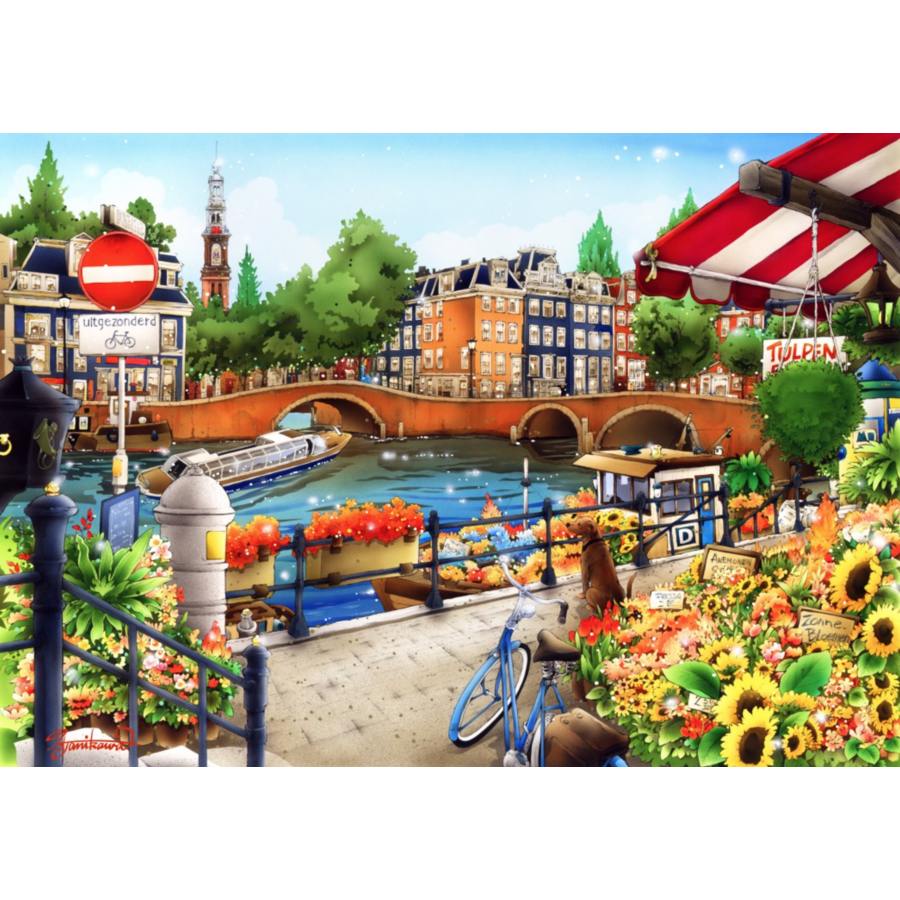 Amsterdam - puzzle of 1500 pieces-1