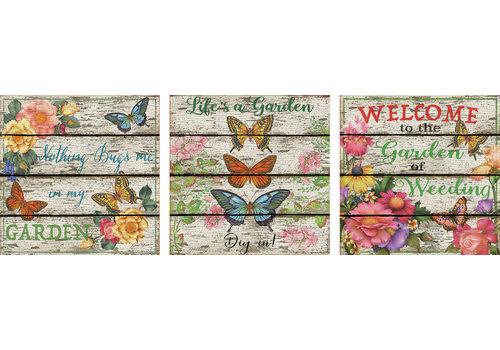 Educa Vlinder tuin - Deco - 3 x 500 stukjes