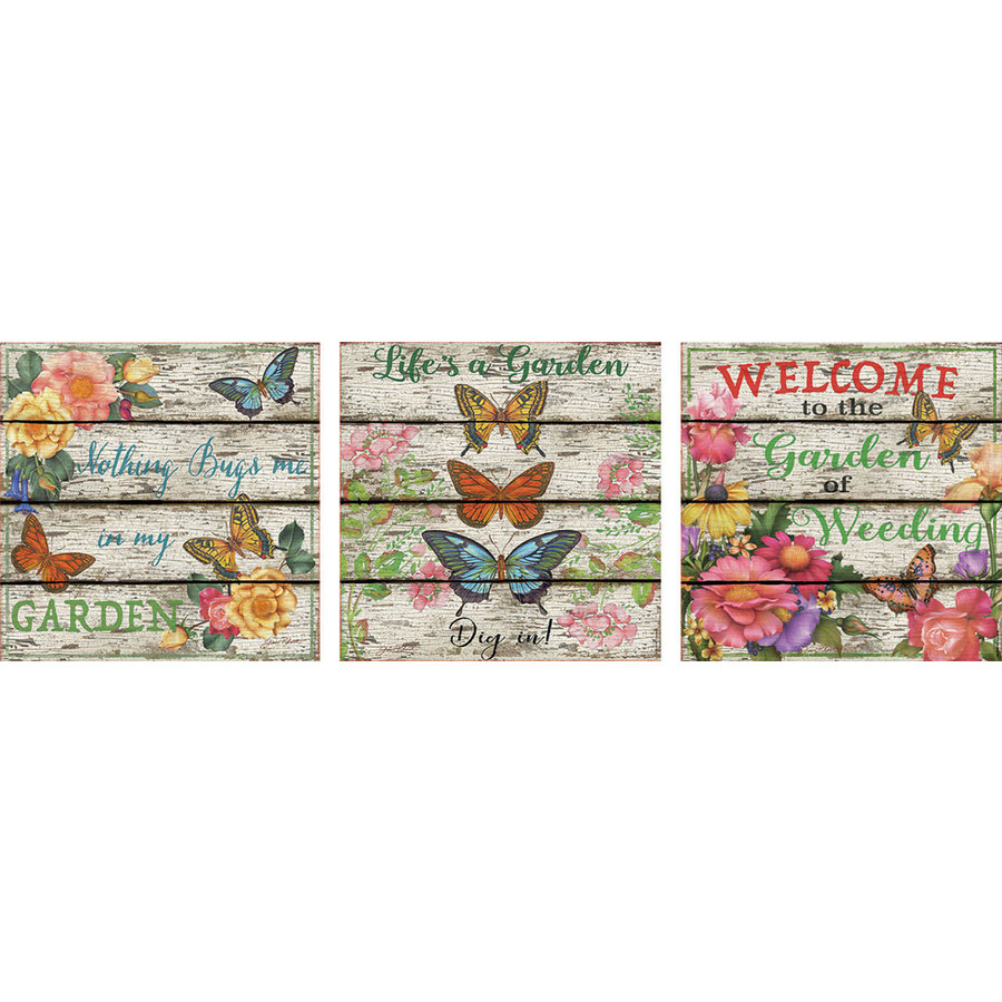 Vlinder tuin - Deco - 3 puzzels van 500 stukjes-1
