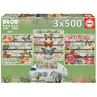 thumb-Vlinder tuin - Deco - 3 puzzels van 500 stukjes-2