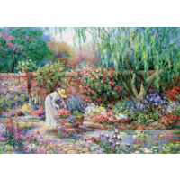 thumb-Her garden - puzzle of 300XXL pieces-1