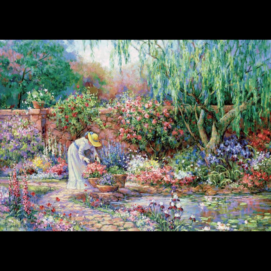 Her garden - puzzle of 300XXL pieces-1
