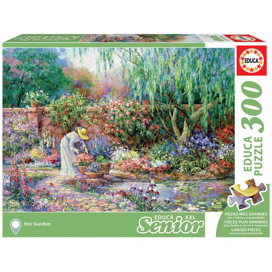 Her garden - puzzle of 300XXL pieces-2