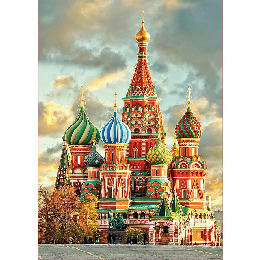 Basiliuskathedraal - Moskou- legpuzzel van 1000 stukjes-1