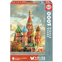 thumb-Basiliuskathedraal - Moskou- legpuzzel van 1000 stukjes-2