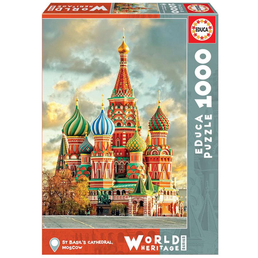 Basiliuskathedraal - Moskou- legpuzzel van 1000 stukjes-2