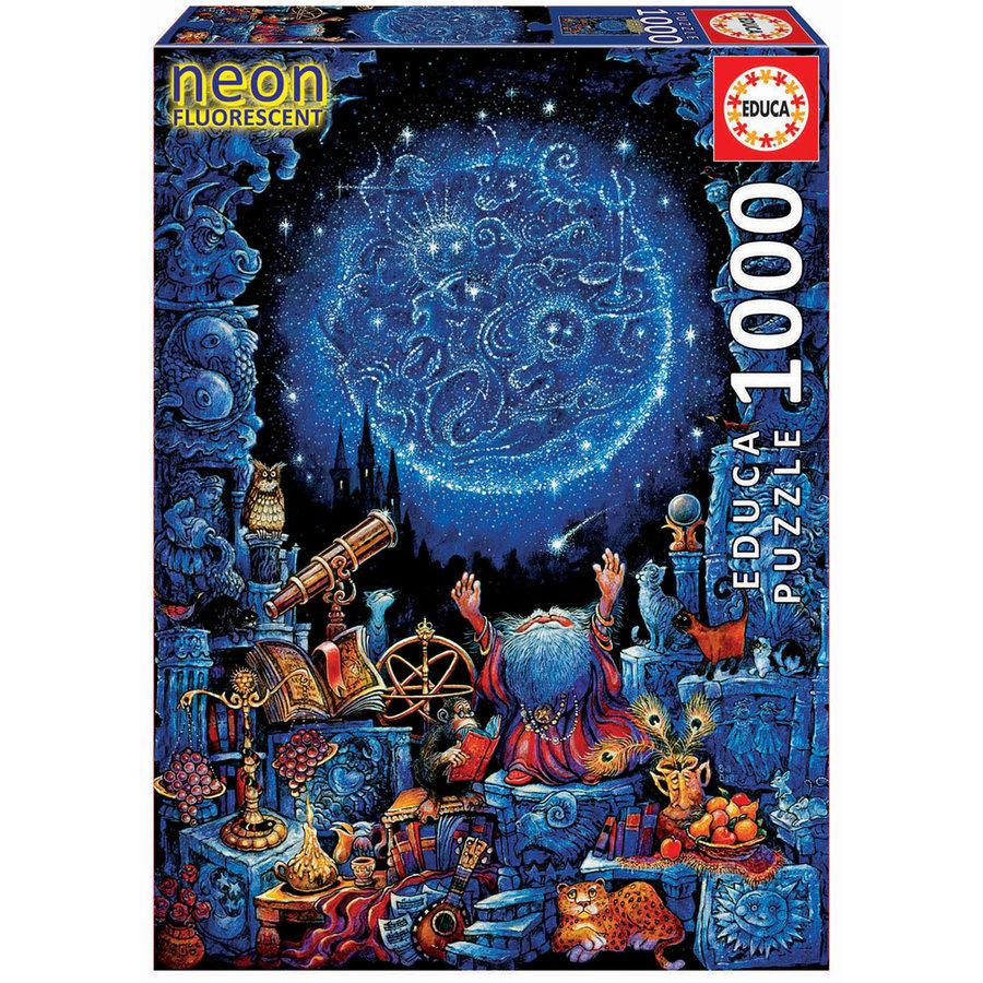 De astroloog - Glow in the Dark - puzzel 1000 stukjes-3