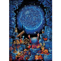 thumb-L'astrologue - Glow in the Dark - puzzle 1000 pièces-1