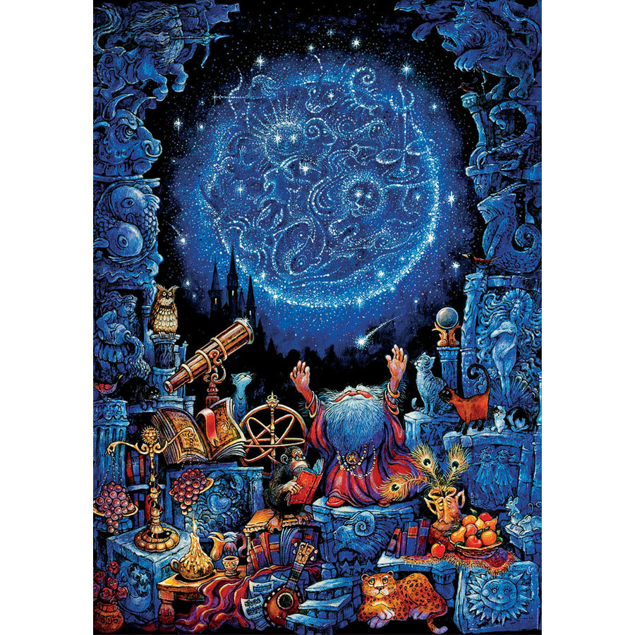 L'astrologue - Glow in the Dark - puzzle 1000 pièces-1