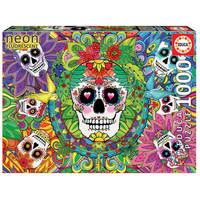thumb-Sugar Skulls - Glow in the Dark - puzzle 1000 pieces-1