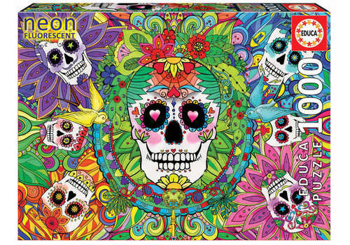Sugar Skulls - Glow in the Dark - puzzle 1000 pieces