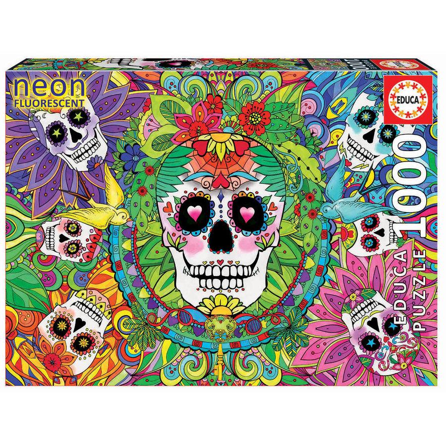 Sugar Skulls - Glow in the Dark - puzzle 1000 pieces-1